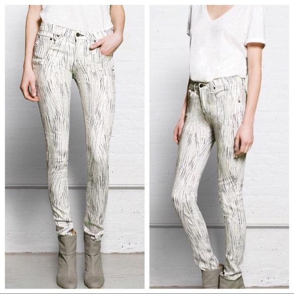 Rag Bone White Skinny Riptide Jeans